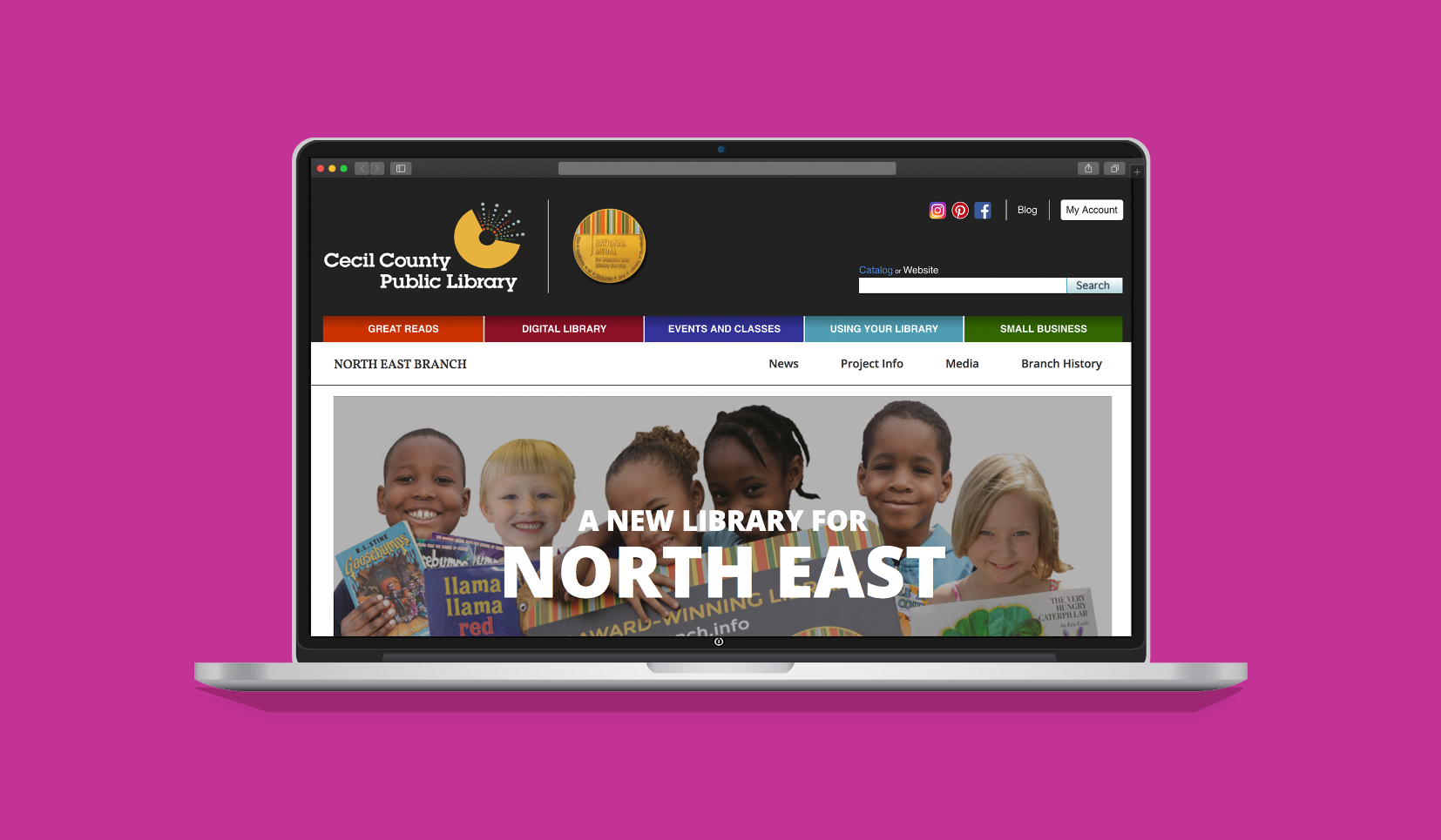 Propr Agency's Cecil County Public Library North East Web Design & Development