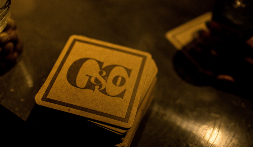 Gunther & Co Letterpress Coaster