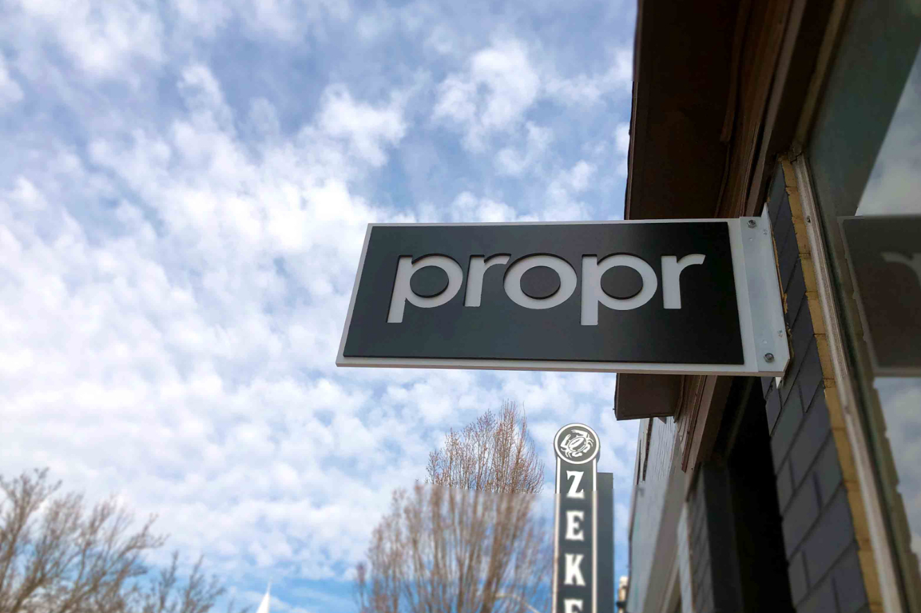 Propr Outside Photo Sign