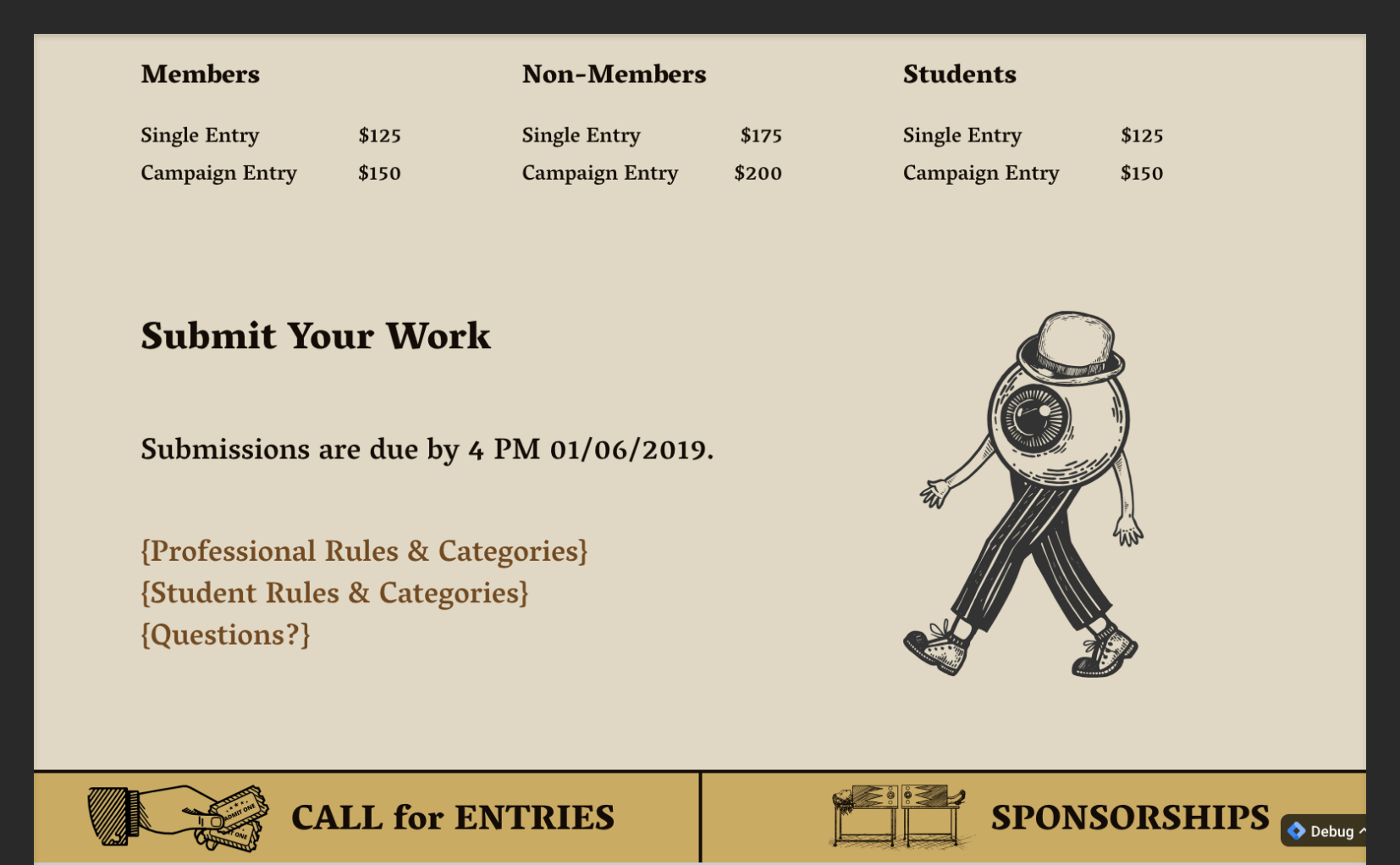 ADDYs Submit Page