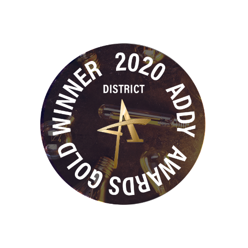 District Gold ADDY Banner