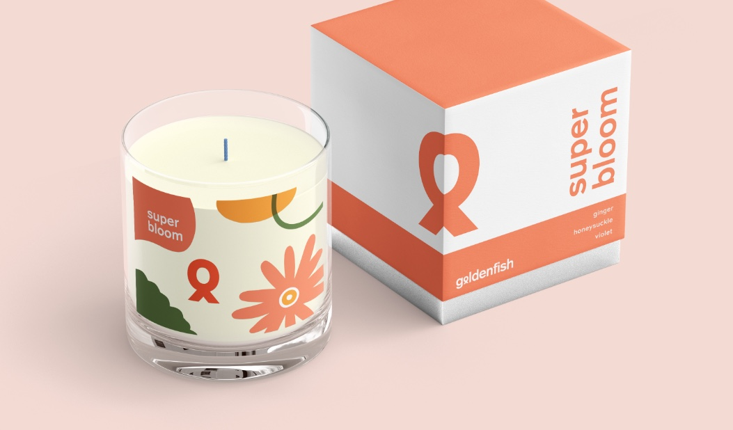 Goldenfish Super Bloom Candle