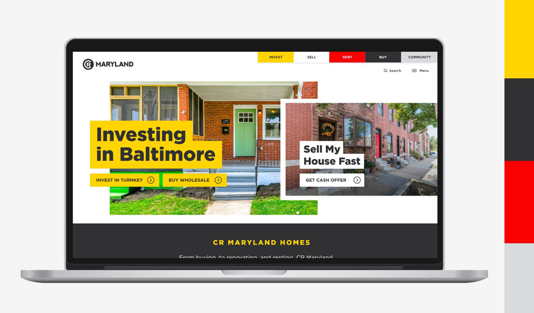 CR Maryland Branding Identity Website Design